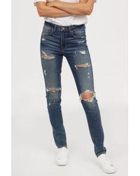 H&M - Skinny High Jeans - Lyst
