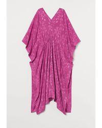 H&M Kaftan aus Jacquardstoff - Pink
