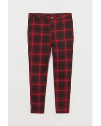 H&M Stretch Twill Trousers - Red