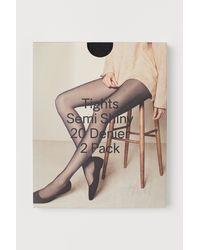 H&M 2er-Pack Strumpfhosen 20 den - Schwarz