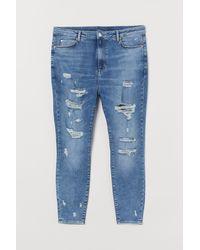 H&M + Super Skinny High Jeans - Blauw
