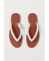 H&M Leather Flip-flops - White