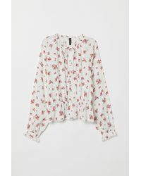 H&M Blouse With Buttons - White