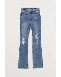 H&M Bootcut High Jeans - Blue