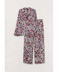 H&M Satin Pyjamas - Gray