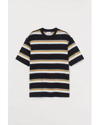 H&M Gemustertes T-Shirt - Schwarz