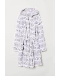 H&M Fleece Dressing Gown - Grey