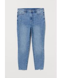 H&M + Super Skinny High Jeans - Bleu