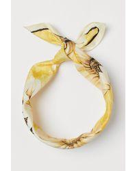 H&M Sjaal/haarband - Geel