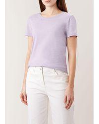 Hobbs 'pixie' T-shirt - Purple
