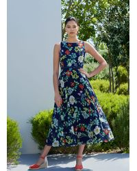 Hobbs - Carly Floral Midi Dress - Lyst