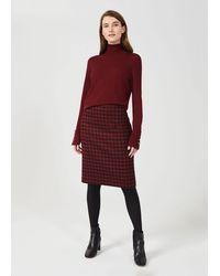 Hobbs Daphne Wool Skirt - Red