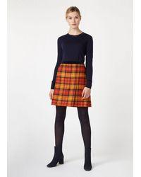 Hobbs Christine Wool Skirt - Orange