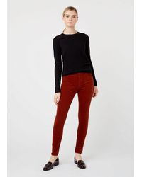 Hobbs Velvet Marianne Jean With Stretch - Red