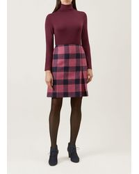 Hobbs Avery Kick Pleat Wool Skirt - Pink
