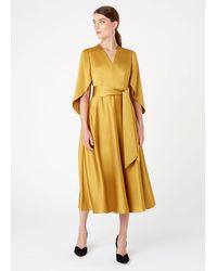 Hobbs Rosa Midi Dress - Yellow