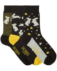 Hobbs Bunny Sock Set - Black