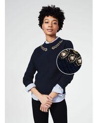 Hobbs - Caitlin Wool Blend Embellished Jumper - Lyst