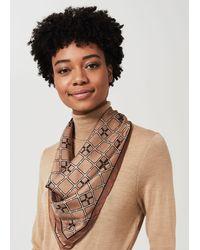 Hobbs Emilia Silk Scarf - Natural