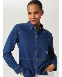 Hobbs Mireya Denim Shirt - Blue