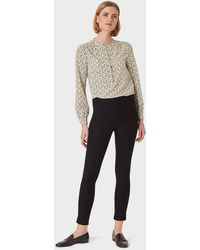 Hobbs Liza 7/8 Trouser With Cotton - Black