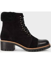 Hobbs Skyla Suede Block Heel Ankle Boots - Black