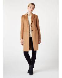 Hobbs Petite Tilda Wool Coat - Natural