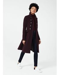 Hobbs Francesca Wool Blend Coat - Multicolour