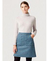 Hobbs Elodie Wool Skirt - Blue