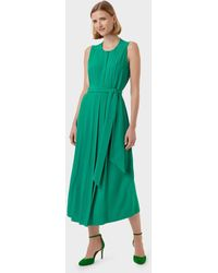 Hobbs Deanna Midi Dress - Green