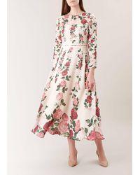 Hobbs Victoria Rose Silk Dress - Pink