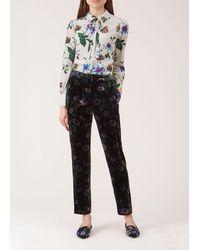 Hobbs Passionflower Velvet Pant - Black