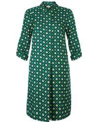 Hobbs - Green 'ellie' Mini Tunic Dress - Lyst