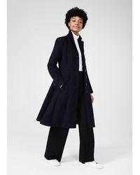 Hobbs Petite Milly Wool Blend Coat - Blue