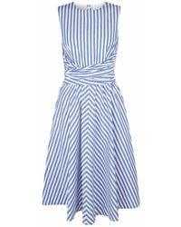 Hobbs - Twitchill Tie - Waist Striped Linen Dress - Lyst