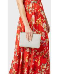 Hobbs Chelsea Leather Wristlet - White