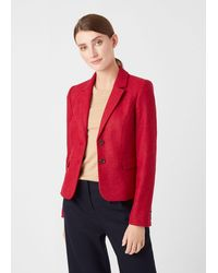 Hobbs Hackness Wool Jacket - Red