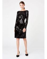 Hobbs Sawyer Sequin Dress - Black