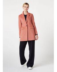 Hobbs Tia Wool Blend Coat - Pink