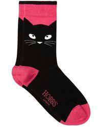 Hobbs - Cat Face Sock - Lyst