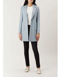 Hobbs Camellia Coat - Blue