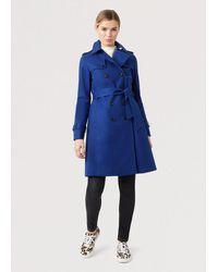 Hobbs Saskia Trench Coat - Blue