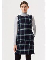Hobbs - Robbie Check Wool Dress - Lyst