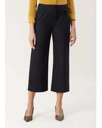 Hobbs Lula Wool Trousers With Stretch - Blue