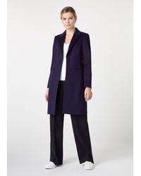 Hobbs Petite Tilda Wool Coat - Blue