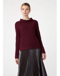 Hobbs Audrey Wool Cashmere Sweater - Purple