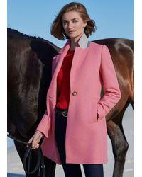 Hobbs Camellia Coat - Pink