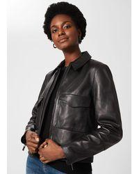 Hobbs Elise Leather Jacket - Black