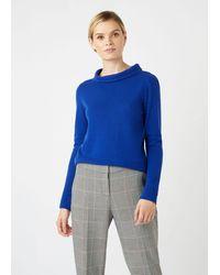 Hobbs Audrey Wool Cashmere Sweater - Blue