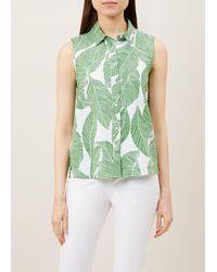 Hobbs Clara Linen Top - Green